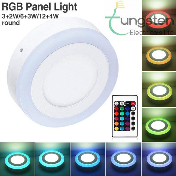 RGB surface panel light