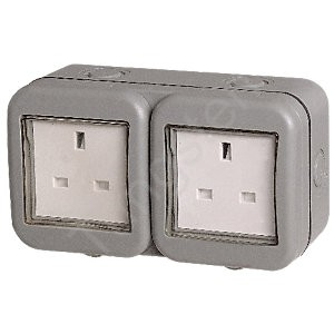waterproof double socket