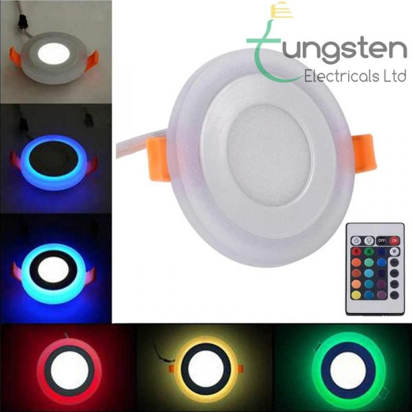RGB recessed panel lights with remote control