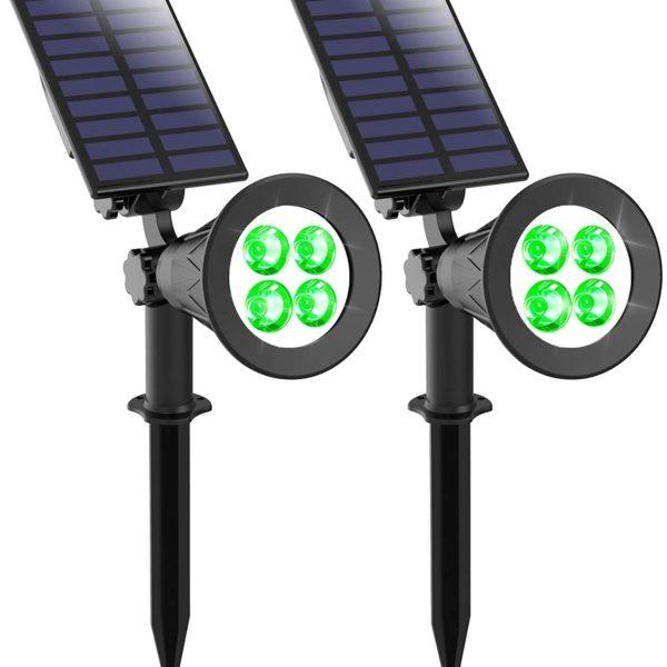 2watts solar garden light green
