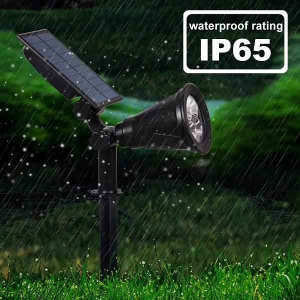 2watts solar garden rain