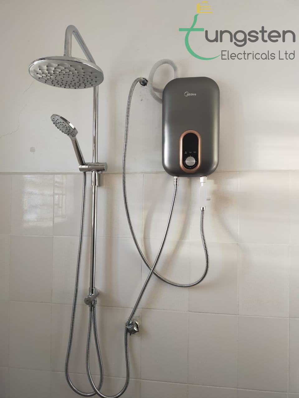 Midea|Tankless heater|Rainshower|D.C Pump|Installation