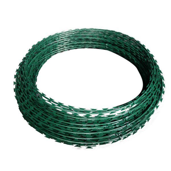 green-razor-wire
